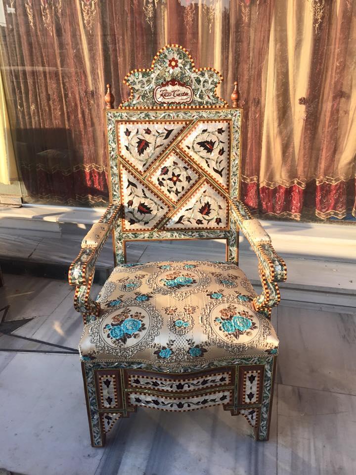 كرسي صدف دمشقي